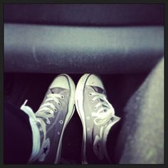 My grey spring converse. I might get some new converse (: