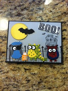 Mom made this cute boy Halloween card for Austin - stampin' up