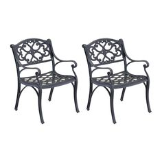 Want 4 chairs (2 sets) $249 for 2 chairs (these match the table) - Home Styles Biscayne 2-Count Black Aluminum Patio Dining Chairs