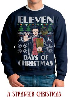 This really is the perfect gift for my stranger things addicted brother :-) and he loves geeky christmas sweaters #strangerthings #christmassweater #affiliate