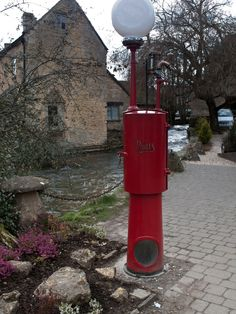 Petrol Pump, The Motor Museum, Bourton on the Water, Gloucestershire.