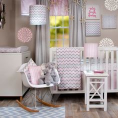 Glenna Jean Caitlyn 4-Piece Crib Bedding Set