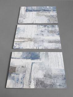 set of 3 small abstractScandinavian style art textured