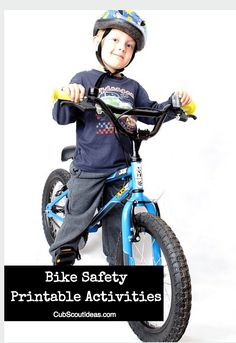 Bicycle Safety Printable Activities for Cub Scouts Make sure your Cub Scout knows all the bicycle safety rules by using these great printables. You'll also find resources for planning your own bike rodeo. Tiger Scouts, Cub Scouts, Girl Scouts, Scout Bike, Bicycle Safety, Bicycle Rims, Bike Rally, Scout Activities, Summer Activities