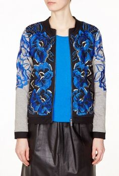 in love with this floral embellished bomber
