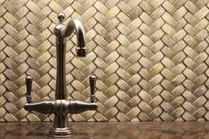 """""""braided"""" basket-weave tile backsplash"""