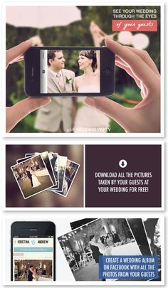 Wedding Party app is the simplest way to collect all the wedding photos your guests take! Simply set up your FREE #wedding app, have your guests download, and see every minute of your wedding in a gorgeous timeline the next day!