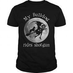 MY BULLDOG RIDES SHOTGUN T-Shirts, Hoodies (22.99$ ==► Order Here!)