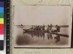 Chinese crossing a river on a ferry, Fujian Province, China, ca. 1888-1906 :: International Mission Photography Archive, ca.1860-ca.1960