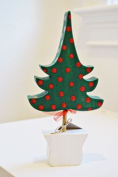 Wooden Christmas tree decoration Hand painted por oscarandollie