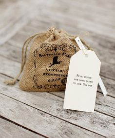 Burlap save the date   CRAZY ABOUT WEDDINGS