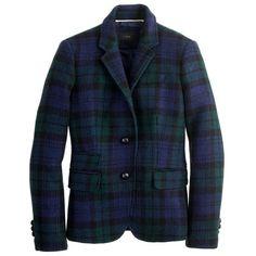 J.Crew Schoolboy blazer in Black Watch plaid ($238) found on Polyvore