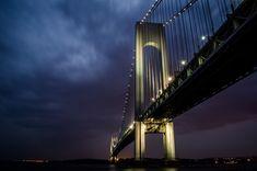 landmark, lights, night, new york