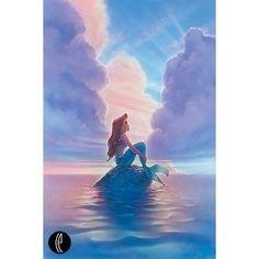 The Little Mermaid Ariel Disney Fine Art Giclee by John Alvin ...