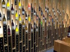 Colourful 'wine cellar' wall!