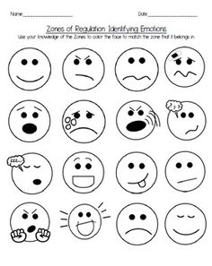 Zones Of Regulation Feelings Coloring Page Zones Of Regulation Feelings Coloring Pages