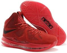 http://www.asneakers4u.com Nike Lebron 10 2013 Official Correct Version Red Black Running Shoes