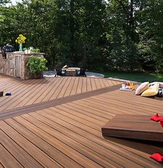 Trex transcend tropics spiced rum grooved 12 decking for Who makes tropics decking