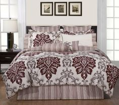 Pointehaven 6-Piece Luxury Twin Bedding Ensemble, Country Ridge by Pointehaven. $42.04. 100% Cotton. Twin dimensions: comforter: 66-inch by 86-inch - sham: 20-inch by 26-inch; 2-inch flange, bed skirt: 39-inch by 75-inch; 15-inch drop, 1 euro sham: 26-inch by 26-inch, 1 round pillow: 7-inch by 16-inch, 1 decorative pillow: 18-inch by 18-inch. Bedroom ensemble - available in twin, full, queen, king and California king. Luxury sizes for comfort and suitable for pillowtop...