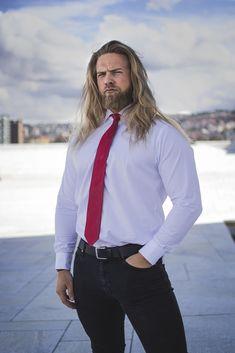 Beautiful Long Hair, Beautiful Men, Norwegian Men, Hair And Beard Styles, Long Hair Styles, I Love Beards, Long Hair Beard, Blonde Guys, Men In Uniform