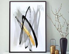 Abstrakte Bilder Original Abstrakte Malerei abstrakte kunst Schwarz und Weiß minimal Zeitgenössische Moderne Malerei Moderene Kunst