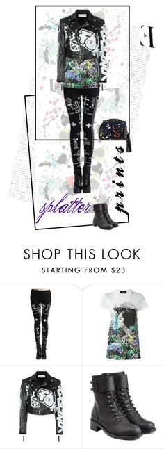 """""""Paint It Splat"""" by feileastram ❤ liked on Polyvore featuring Dsquared2, Faith Connexion and Philosophy di Lorenzo Serafini"""