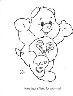 Surprise Someone Special Today By Coloring Surprise Bear In This
