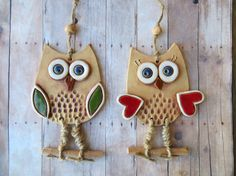 Newest Snap Shots clay ornaments owl Style clay owl ceramic owl pottery owl owl wall hanging owl Ceramic Owl, Ceramic Animals, Ceramic Clay, Ceramic Beads, Owl Crafts, Clay Crafts, Diy And Crafts, Clay Owl, Clay Clay