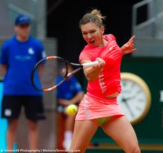 This face expression looks fierce, but Halep lost this match #WTA #MMOPEN15