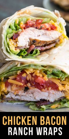 This Spicy Chicken Bacon Ranch Wrap is the perfect quick and easy meal packed with flavor! Perfect for meal prep or an easy healthy dinner! Gluten free and low carb options! Easy Healthy Dinners, Easy Healthy Recipes, Quick Meals, Lunch Recipes, Easy Dinner Recipes, Cooking Recipes, Dinner Ideas, Healthy Dinner Options, Health Recipes