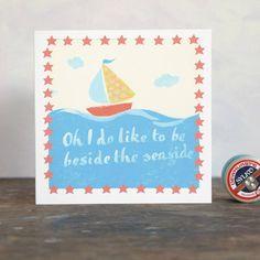boat art card by moobaacluck | notonthehighstreet.com