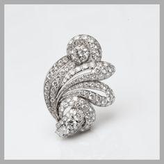 Suzanne Belperrone brooch, circa 1965, of diamonds set in platinum (=)