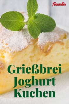 Rezept: Grießbrei-Kuchen mit griechischem Joghurt Recipe: Semolina cake with Greek yogurt Baking Recipes, Cake Recipes, Healthy Recipes, Dessert Recipes, Ice Cream Recipes, Greek Recipes, Cakes Originales, Bolos Low Carb, Semolina Cake