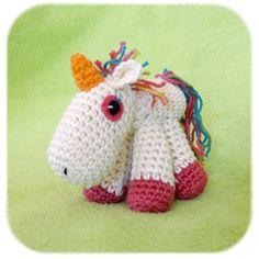 unicorn plush amigurumi crochet stuffed animal...reminds me of  Agnes' unicorn from despicable me