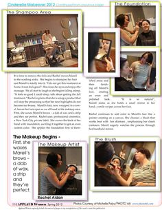 MAKEUP: THE BEGINNING – BROWS, FOUNDATION & BLUSH. Moving on in our process to create this year's Cinderella, Rachel, now in the role of Makeup Artist refines the brow then applies foundation and blush. Continue at http://www.applaudwomen.com/ApplaudWomenSpring2012mag.html#/110/