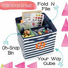 Organize the inside of a Your Way cube with a Fold N File and Oh Snap bins
