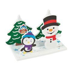 3D+Winter+Snowman+Craft+Kit+-+OrientalTrading.com