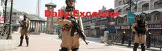 Security forces personal stand alert during curfew  at Lal Chowk in Srinagar on  Friday Excelsior\Shakeel-ul-Rehman