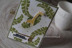 Geburtstagskarte Südafrika Safari Giraffe Stampin Up