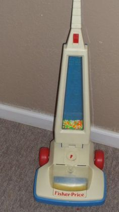 Vintage Fisher Price 1986 Toy Vacuum Cleaner Light Works Made in USA | eBay