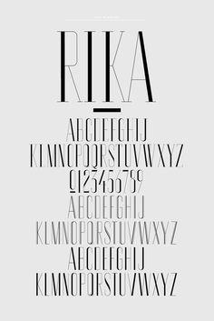 Rika magazine custom typeface