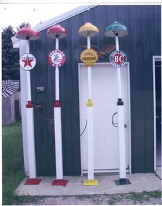 Gerald's Gas Station Island-- gas station light's made to order any color, any company logo   $375 each  please call 269-657-2718 DO NOT SEND TEXT MESSAGE OR EMAILS asking for information as this is posted for a friend