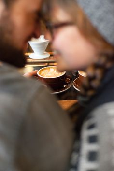 Coffee shop session, couple portraits   John and Bethany   A Coffee Anniversary Session   Charlotte Photographer