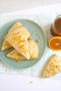 Perfect for brunch! Orange zest scones.