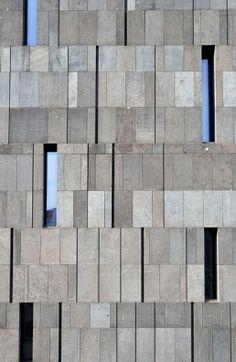 Basalt lava stone facade,detail,Museum Moderner Kunst,MUMOK,Museum of Modern Art,MuseumsQuartier in Vienna,Austria,Europe
