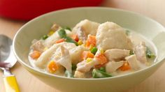 Say cheese! Chicken and dumplings just got cheesier--and easier--with this quick, creamy update to the classic.