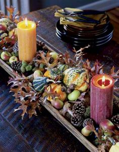 Eclectic Thanksgiving Centerpiece