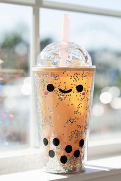 Bubble Tea, Boba Drink, Cute Water Bottles, Reusable Cup, Kawaii Room, Cute Cups, Cute Room Decor, Airpod Case, Cute Food
