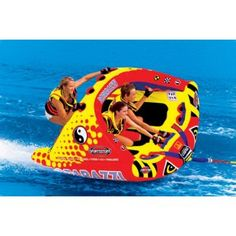 SportsStuff Poparazzi Tube - Catch a wave with the new Poparazzi for up to 3 riders. Its high winged shape with rocker bottom allows riders to carve into the wake and glide across the waters surface with minimal drag. High rise tower on rear deck Sports Nautiques, Sports Toys, Water Sports, The Last Summer, Summer Fun, Summer Time, Boat Tubes, Lake Toys, Water Tube