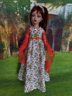 OUTFIT OOAK ELLOWYNE WILDE AND FRIENDS summer long dress, stole, hair band, robe | eBay